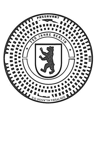Berlin Gullideckel: 6x9 Zoll A5 Souvenir Notizbuch College Liniert | Gulli Gully Gullydeckel Kanaldeckel (German Edition) download ebooks PDF Books