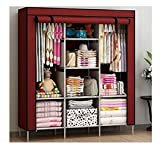 FASNO 6+2 Layer Fancy and Portable Foldable Collapsible Closet/Cabinet/Need to Be Assembled Wine red 88130