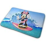 Emily-Shop Welcome Door Mat Minnie Mouse Surfing Sea Waves Interior Exterior Entrada Alfombra...