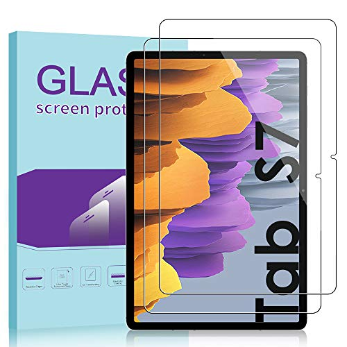 Janmitta für Samsung Galaxy Tab S7 Panzerglas Schutzfolie [2-Stück], HD Panzerfolie 9H Gehärtetem Glass [Anti-Kratzen][Anti-Bläschen] Displayschutzfolie (11 Zoll)
