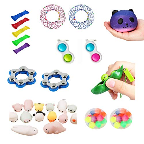PLENTOP Toys Set,17pcs Fidget Toys for Kids and Adults, Relieves Stress and Anxiety Fidget Toy Sensory Toys Squeeze Toy Autism Stress Relief Toys Toys Party Bag Fillers