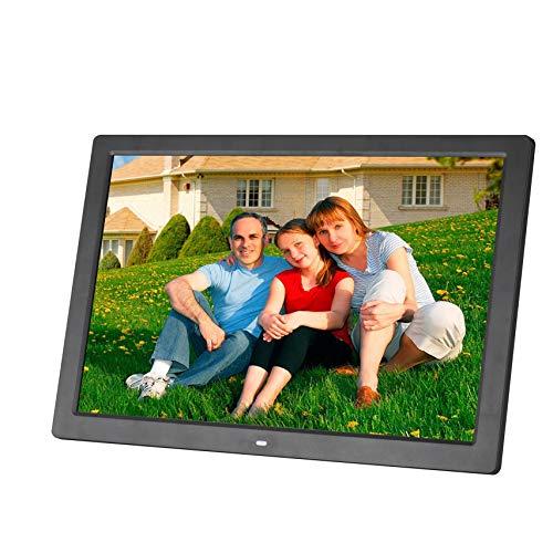 AKAKKSKY HD Digital Photo Frame 14 Inch1280 800(16:9) Display Remote Control Media MP3 HD Video Player Calendar Alarm Clock USB and SD Card Slots Best Gift,Black