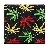 Cojines de Suelo Cuadrados,Cojín de Asiento de cojín de Silla,Hojas de Cannabis Vintage coloreadas,Sentado para Oficina,hogar,Suave Espesar