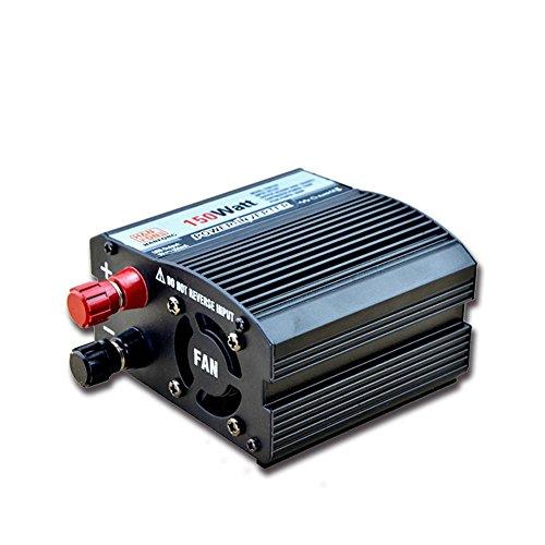 Convertisseur BQ, Power Inverter 150W DC 24V à AC 220V Transformateur tension de voiture Briquet de cigarette Chargeur de voiture USB