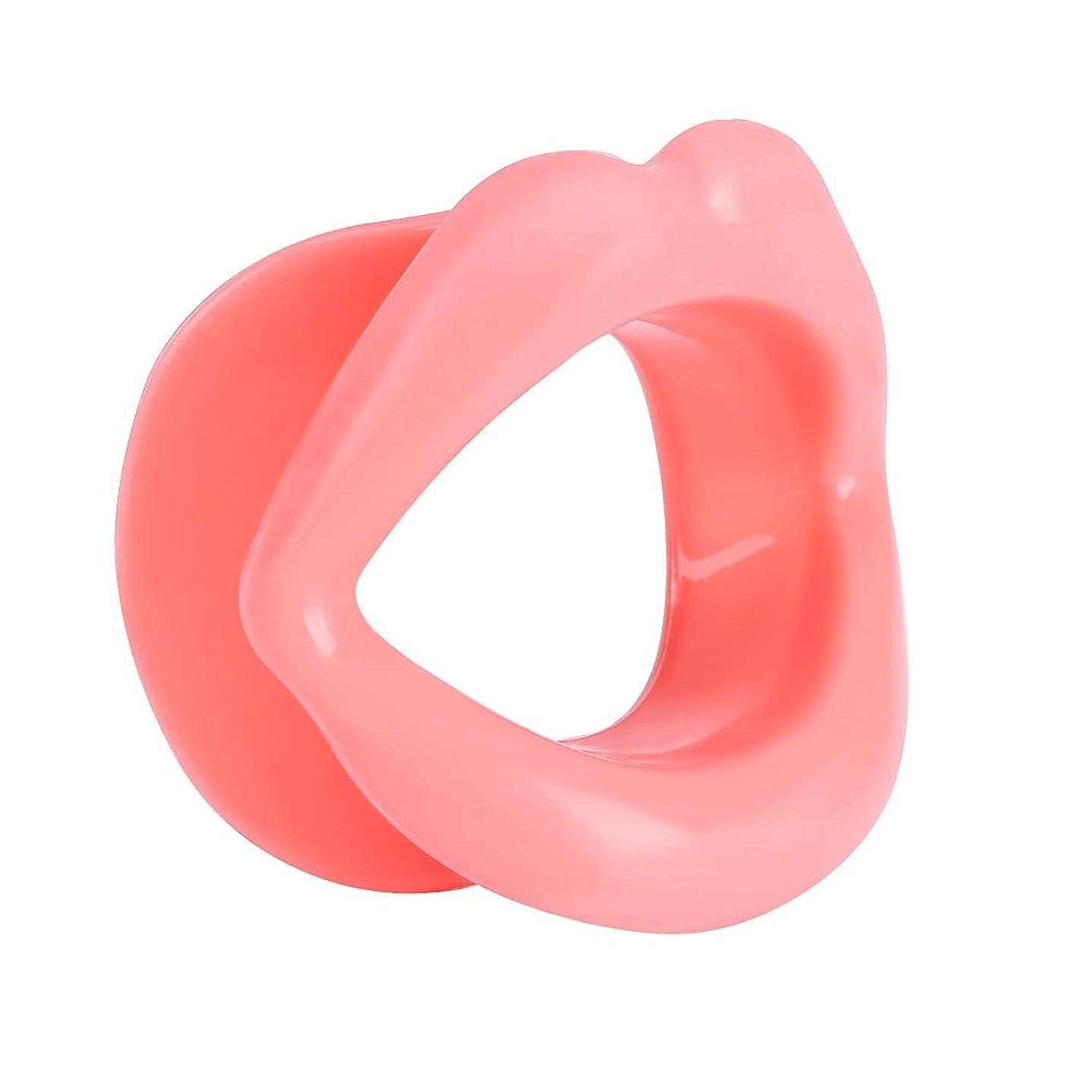 段落ロビーさびたリップトレーナー、シリコンフェイスリフティングエクササイズマウスの筋肉の締め具、しわ防止ツール