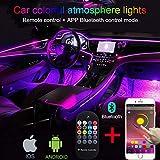 TABEN Auto Decorazione Interna Atmosfera Luce LED Interni Auto Kit di Illuminazione con 8 Colori, Impermeabile, Interni Atmosfera luci al Neon Striscia per Auto 1 W DC12 V (1 Set)