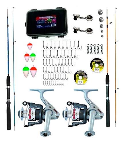 Kit pesca Marine Sports 2 Molinetes+2 Varas+com Acessorios