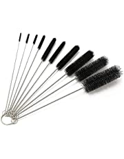 10 Pieces Nylon Cleaning Bottle Brush Pipe Cleaning Brushes Tube Brushes Tube Bottle Straw Washing Cleaner Bristle Kit Tool Black