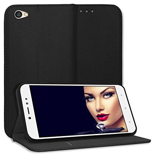 mtb more energy® Schutz-Tasche Bookstyle für Xiaomi Redmi Note 5A (5.5'') - schwarz - Kunstleder - Klapp-Cover Hülle Hülle