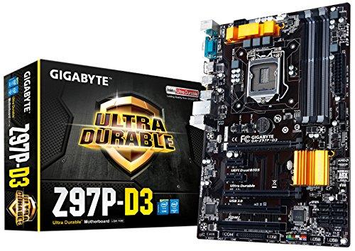 Gigabyte GA-Z97P-D3 Intel Z97 Socket H3 (LGA 1150) ATX Motherboard - Motherboards (DDR3-SDRAM, DIMM, 1333,1600,1800,1866,2000,2133,2200,2400,2600,2666,2800,2933,3000 MHz, Dual, 32 GB, Intel)