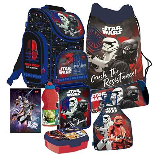 Star Wars Clone 8 Teile Schulranzen Ranzen Tornister Rucksack Tasche Federmappe Malschürze Set inklusive Sticker-von-Kids4shop