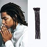 SEGO Extension Dreadlock Treccine [Nero Naturale] Rasta Dread 5 Pezzi 30cm da Uomo Donna Trecce Capelli Corti Sintetici Treccia Braiding Braids Hair Uncinetto