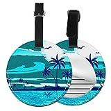 Etiquetas para Equipaje Bolso ID Tag Viaje Bolso De La Maleta Identifier Las Etiquetas Maletas Viaje Luggage ID Tag para Maletas Equipaje Playa Vacaciones Caribe Cocotero Palmera
