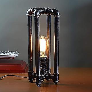 Lampe de Table Style Nordique européen rétro Lampe à Tube en Fer forgé personnalité Lampe à tuyauterie Baton décoration de...