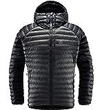 Haglöfs Essens Mimic Hood Chaqueta De Pluma Sintética para Hombre, True Black/Magnetite, XL