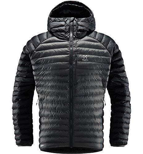Haglöfs Winterjacke Herren Winterjacke Essens Mimic Hood Wärmend, Atmungsaktiv, Wasserabweisend True Black/Magnetite L L