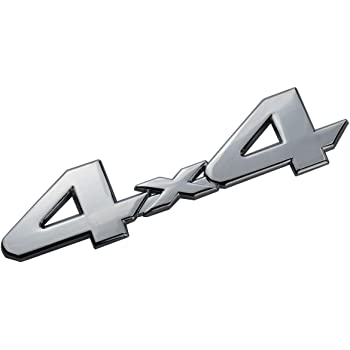 4x4 Emblem Badge Nameplate 3D Car Sticker Decal Replacement for Universal car Rear Tailgate 4 X 4 Black Red