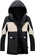wuliLINL Mens Jacket Winter Windproof Raincoat Mens Waterproof Soft Jacket Coat with Hood for Any Outdoor Activities