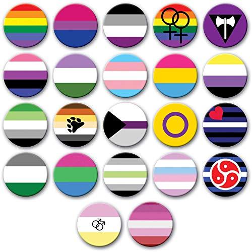 Party People 50mm Genderfluid Stolz. Große Auswahl an LGBQT + -Abzeichen verfügbar. Mehrere Größen.