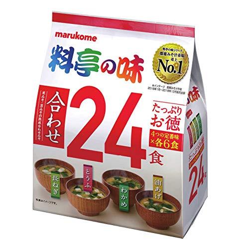 Marukome Plenty of taste of the restaurant Instant miso soup 24 meals