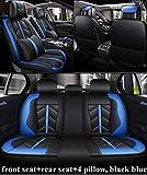 Fundas Asiento Coche para BMW Serie 3 316D 318D 320D 323D 325D 328D 330D 335D 340D Fundas De Cojín-Negro Azul Lujo