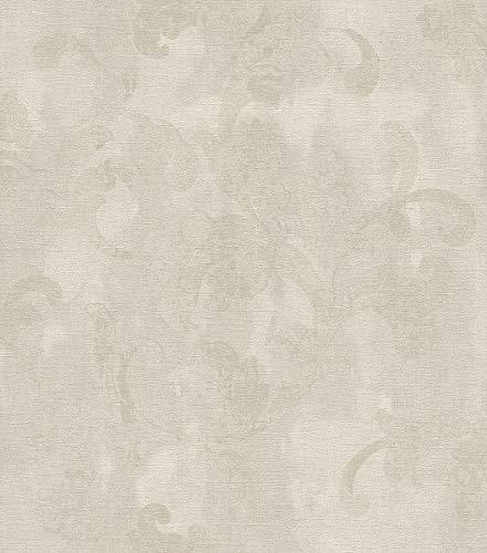 rasch Tapete 455311 aus der Kollektion Florentine II – Vliestapete in Beige mit floralen Ranken – 10,05m x 53cm (L x B)