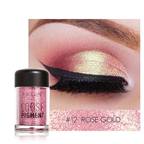 12 Farben Glitter Lidschatten Schönheit Augen Pigment Pulver Lippen Lose Make-Up Kosmetik(#12)