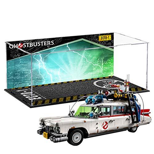 SEREIN Vitrina de Acrílica para Lego ECTO-1 Ghostbusters 10274, Estuche de Muestra Caja de Presentación de Escaparate Compatible con Lego 10274