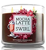 Bath and Body Works Mocha Latte Swirl Candle - Espresso Coffee and Caramel Fragrance - Limited Edition Cafe Candle Collection with Decorative Lid
