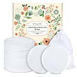 Reusable Cotton Rounds-18 Pack Organic Reusable Cotton Pads With Laundry Bag Makeup Remover Pads for Toner Eco-Friendly environmentally Bamboo Cotton Rounds Gifts(3.12inches)