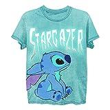 Disney Lilo and Stitch Shirt - Camiseta clásica para mujer Lilo y Stitch Fashion Tee Lilo y Stitch Wash - - Small