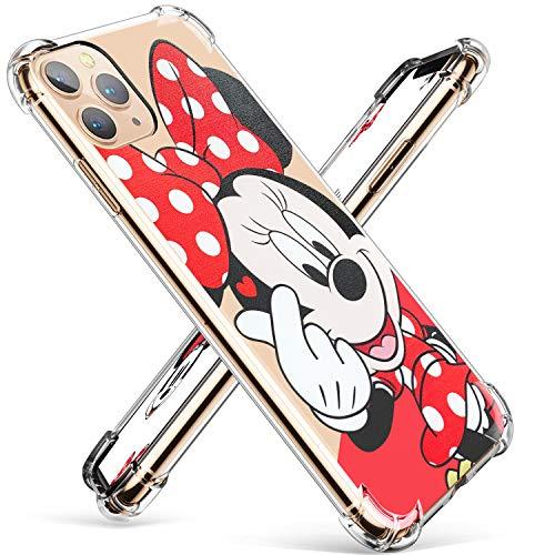Darnew Heart Minnie Funda para iPhone 11 Pro MAX, Dibujos Animados Lindo Moda Suave de TPU Diseño de Gracioso Divertido Frio...