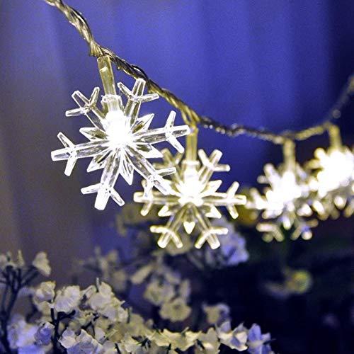GKJRKGVF Kerstmis met 60 leds, voor fee, sneeuw, slinger, voor kerstboom, outdoor, bruiloft, decoratie, waterdichte led-verlichting