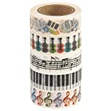 MIKOKA ブランド マスキングテープ(和紙テープ) 10 m 5巻セット 音楽