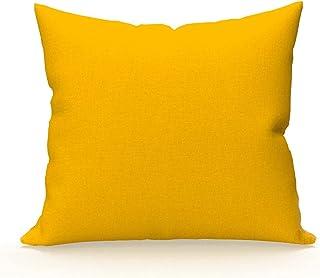 Soleil d'Ocre 553824 Taie d'Oreiller Coton 57 Fils Jaune 65 x 65 cm