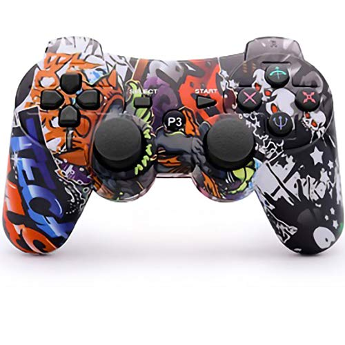 dainslef PS3 Controller Wireless Dualshock Gamepad/Remote Control for Sony Playstation 3 Bluetooth PS3 Sixaxis Joystick with Charging Cable (Horde PS3 Remote/PS3 Game)…