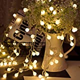 Guirnaldas Cadena de Luces LED USB, LOHAS Decoracion Interior, 5 Metros con 40 Bombillas, Luces Decorativas Blanco Caliente, Ideal para Fiesta, Decoraciones de Dormitorio, Pared, Navidad, Boda