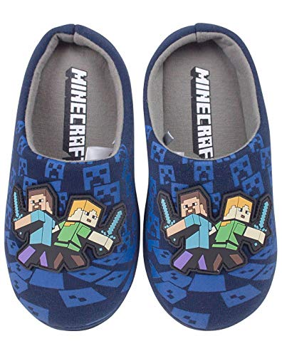 Minecraft Surrounded Boy's Slippers (2 UK)