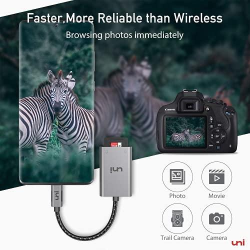 USB C auf Micro SD + SD Kartenleser, uni SD Adapter[Thunderbolt 3], kompatibel für Chromebooks und viele weitere Notebooks - 4