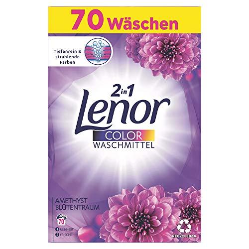 Lenor Color Waschmittel Pulver, Waschpulver, 70 Waschladungen, Amethyst Blütentraum (4.55 kg)