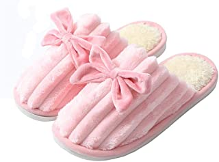 Men's Slippers Warm Fluffy Plush,Women Slippers Bottom Soft Home Shoes Cotton, Men Slippers Indoor Slip-On Slides Shoes fo...