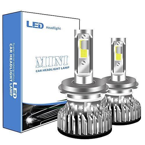 Sidaqi 2PCS H4 LED Bombilla Coche 6000K Blanco 12000LM Para bombillas de faros LED de automoción Luz de carretera y luz de cruce integradas