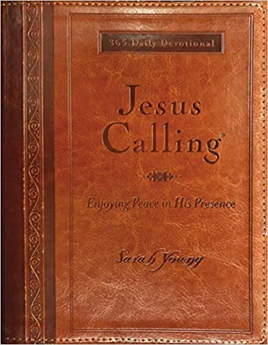 [By Sarah Young] Jesus Calling (Large Print Leathersoft): Enjoying Peace in His Presence (with Full Scriptures) [ Imitation Leather ] Best selling book for-|Christian Devotionals (Books)|