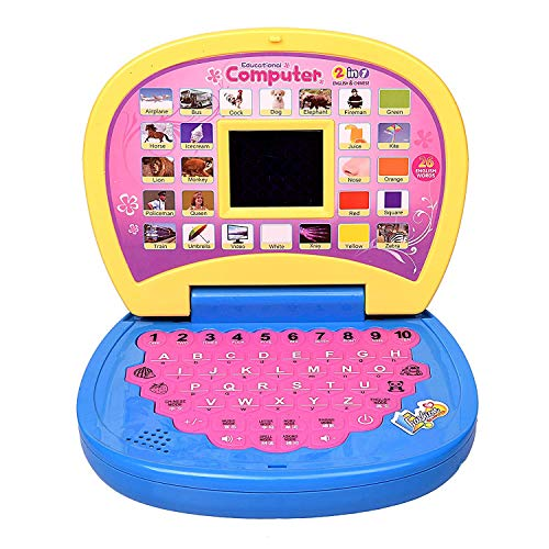 babybaba educational learning kids laptop with led display for kids-Multi color