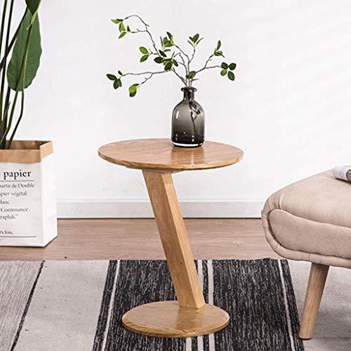 Salontafel Nordic Small End Tafel Zijtafels Z-type Sofa Vrije tijd Tafelhoek voor Woonkamer Slaapkamer, Houten Top,Gemakkelijk te reinigen