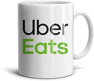 White Ceramic Mug Uber-Eats- TeaMugs 330ML/11.2oz