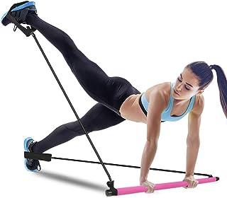 KIKIGOAL Pilates Resistance Band and Toning Bar Home Gym, Portable Pilates Total Body Workout, Yoga, Fitness, Stretch, Scu...