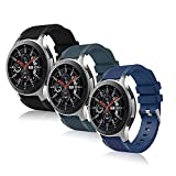 Correas de repuesto compatibles con Samsung Galaxy Watch 46 mm Galaxy Watch 3/Gear S3 45 mm 22 mm Correa de reloj inteligente para hombres y mujeres (anchura de 22 mm)