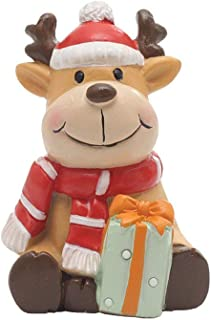 UZHOPM Christmas Figure Xmas Decoration Ornament Doll Holiday Decor Christmas Ornament for Car Dashboard,Home/Office (Deer)