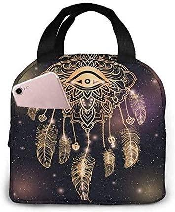 Bolso de almuerzo con atrapasueños indio nativo americano, bolsa de almuerzo con aislamiento, bolsa de almuerzo, contenedor de comida para picnic,...